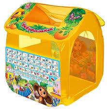 <b>Палатка Играем вместе</b> Чебурашка с азбукой домик в сумке GFA ...
