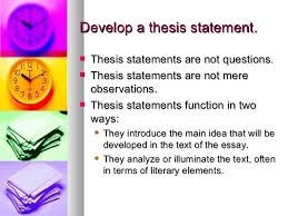 how to write a literary analysis essay   develop a thesis statement