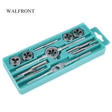 WALFRONT <b>12pcs</b>/Box <b>Tap</b> and <b>Die Set</b> M6 M12 Screw Nut <b>Thread</b> ...