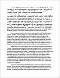 tartuffe essay on moderation in the play tartuffe moliere this preview has intentionally blurred sections sign up to view the full version
