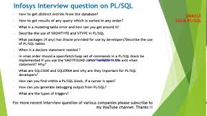 top infosys interview questions and answers on plsql top 20 infosys interview questions and answers on plsql