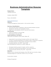 resume in business management