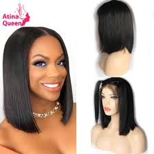 Atina <b>Queen 180</b> Density Straight Brazilian Lace Front Bob Wigs ...