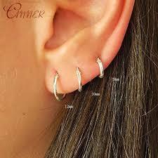 <b>CANNER</b> 1 Pair <b>Small</b> Hoop <b>Earrings 925</b> Sterling Silver Circle ...