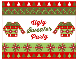 printable ugly christmas sweater party invitations happy printable ugly christmas sweater party invitations 16