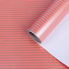 <b>Бумага упаковочная</b> Полосы, 3902588, красный, <b>0</b>,<b>7</b> x <b>10 м</b> ...