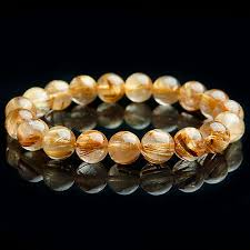 <b>100</b>% <b>Natural Gold Rutilated</b> Quartz Crystal Beads Wealthy Luck ...