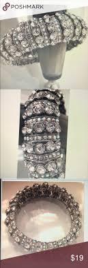 "Elegant Bracelet <b>Rhinestones crystal Elastic</b> 1"" W | Elegant bracelet ..."