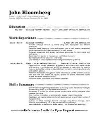 therapeutic massage resume massage therapy resume examples