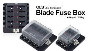 car blade fuse block independent 12 ways box circuit with