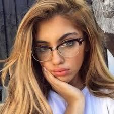 <b>Fashion Cat Eye Half</b> Metal Frame Glasses For Women/Men Retro ...