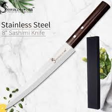 SOWOLL <b>Laser Damascus Chef Knife</b> Stainless Steel Sashimi ...