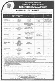 islamabad jobs project pc i pts application form last date nha islamabad jobs 2016 project pc i pts application form last date