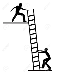 job mentoring concept sign of career or life coach assisting job mentoring concept sign of career or life coach assisting person to climb the ladder