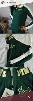best ideas about university of south florida new vs pink 1 2 zip pullover usf nwt