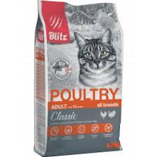 Купить <b>Blitz</b>: <b>сухой корм</b> для взрослых кошек «Домашняя птица ...