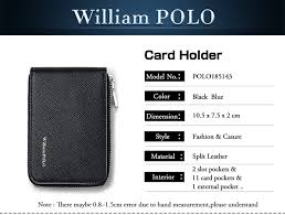 <b>WILLIAMPOLO 2019</b> Leather Card Holder Men Credit Card Wallet ...