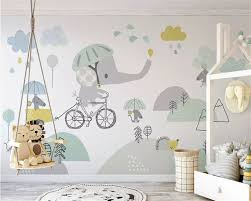 <b>Beibehang Custom Size</b> Eco 3d Wallpaper Cute Elephant Bike ...