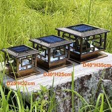 <b>D25*h22cm Antique And Classic</b> Style Led Solar Pillar Light /solar ...