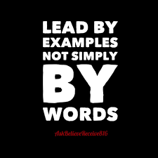 examples are the best leader ask believe receive  examples