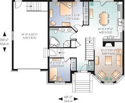 Small House Plan   Single Garage   DR   st Floor Master    Floor Plan