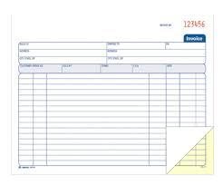 invoice book 2 part carbonless spiral book 50 st bk