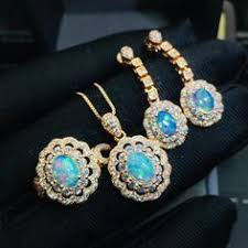 <b>Natural</b> sterling silver fashion opal sets | <b>Opal jewelry</b>, Opal earrings ...