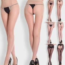 <b>Hot</b>! <b>Women Fitness</b> Open Back Breathable Sheer Pantyhose Socks ...