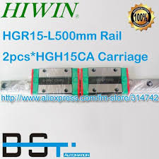 100% New <b>HIWIN linear guide</b> block/Carriages/car 1pcs HGR15 L ...