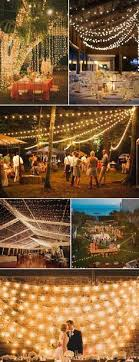 5 ways to light your wedding receptions barn wedding lights