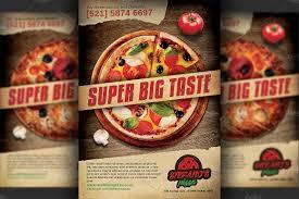 pizza restaurant advertising flyer flyer templates on creative pizza restaurant advertising flyer flyer templates on creative market