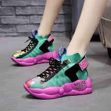 <b>Women</b> Sneakers Platform Thick Sole Breathable Mesh Chunky ...