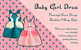 SOBOWO Toddler Baby <b>Girl</b> Swan Flamingo Princess <b>Dresses</b>