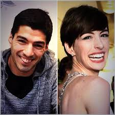 Image result for luis suarez anne hathaway