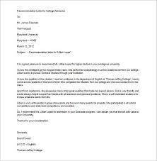 Letter of recommendation Educruitment