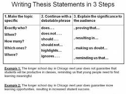 Thesis statement Chang e and History on Pinterest Step Thesis Statement     FAMU Online