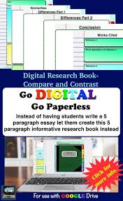 1000 ideas about compare and contrast student digital research book compare and contrast