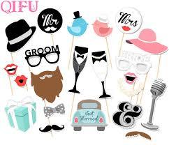 <b>QIFU</b> Mr Mrs Just Married Photobooth <b>Wedding</b> Decoration <b>Bridal</b> ...