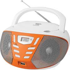 <b>Магнитола BBK</b> BX193U, <b>White Orange</b> CD/MP3