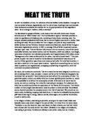 vegetarianism good or bad discursive essay   gcse english  animal welfare  meat consumption or vegetarianism