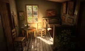 living room vangoghlivingnatural courtesy of goblen studio archo van gogh bedroom courtesy of goblen st