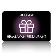 Gift Card – Gift Card Himalayan Restaurant