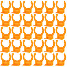<b>30pcs Orange Plastic</b> Wired Microphone Hook Holder Wall Mount ...