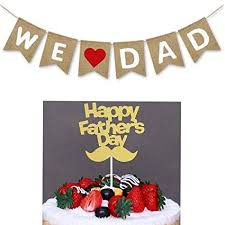 We <b>Love</b> Dad <b>Banner</b>,Happy Father's Day <b>Cake Topper</b>,for Happy ...