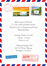 post office style retirement party invitation card and post office style retirement party invitation card and announcement template