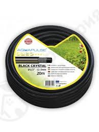 "садовый <b>шланг</b> усиленный <b>aquapulse black</b> crystal (fitt) - 1/2"" х 50м"