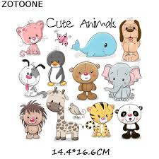 Online Shop <b>ZOTOONE Iron</b> on Cute Animal <b>Patches</b> for Kids ...