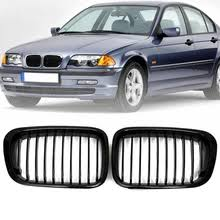 <b>gloss black</b> kidney grill grille for bmw e46 3 series 2 door 330ci ...