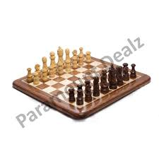 Brown 15 Inches Flat Wooden <b>Chess Board</b> With <b>Japanese Style</b> ...