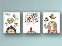 baby nursery zoom owl birds with flowers and tree bird elephant unique pattern design decorations your baby nursery cool bee animal